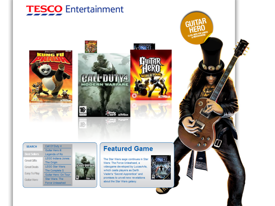 Activision at Tesco