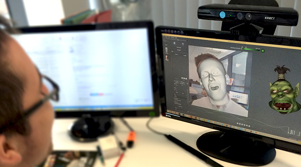 Markerless motion capture with Faceshift